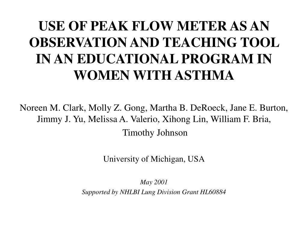 Ppt use of peak flow meter as an observation and teaching tool in slide1 l geenschuldenfo Gallery