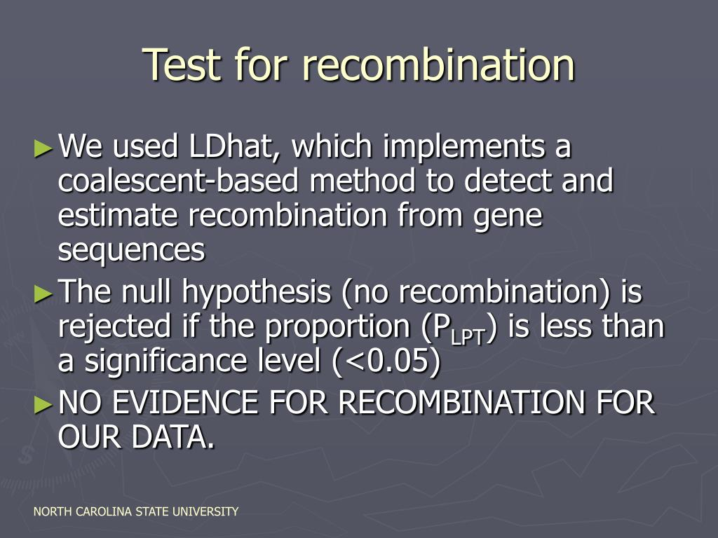Test for recombination