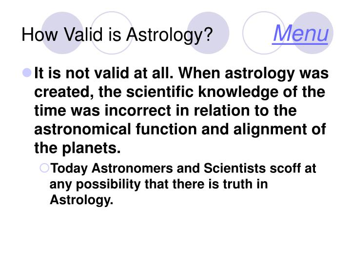 How Valid is Astrology?