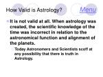 how valid is astrology menu