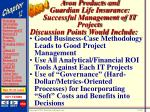 avon products and guardian life insurance successful management of it projects65