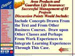 avon products and guardian life insurance successful management of it projects69