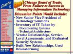 chicago board of trade from failure to success in managing information technology44