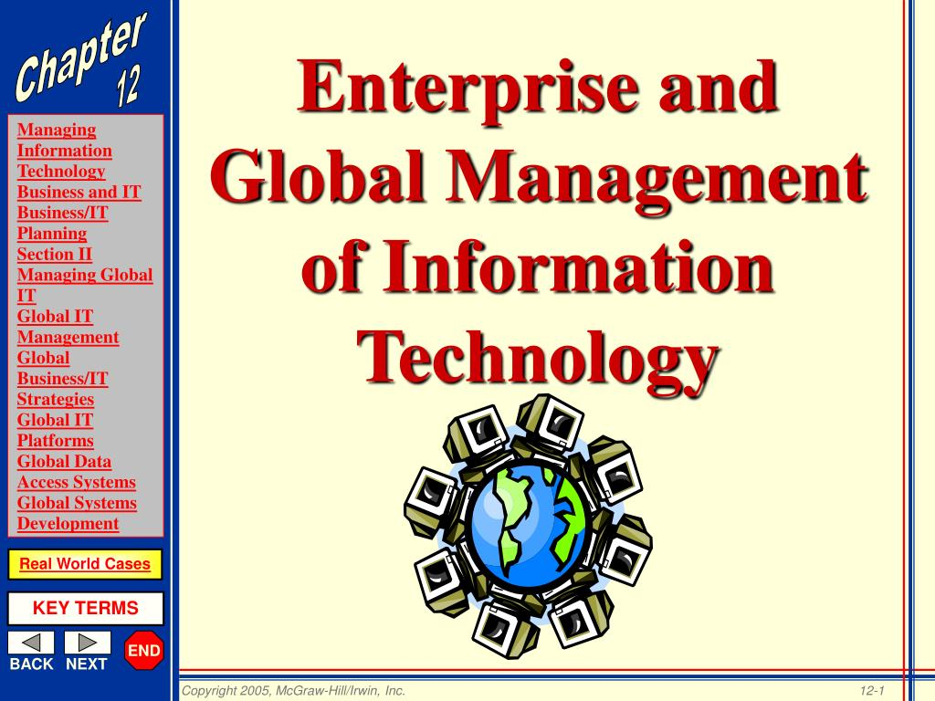 enterprise and global management of information technology l.