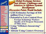 global exchange services and allstate challenges and solutions in offshore systems development50