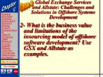 global exchange services and allstate challenges and solutions in offshore systems development51