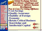 global exchange services and allstate challenges and solutions in offshore systems development55