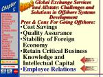 global exchange services and allstate challenges and solutions in offshore systems development56