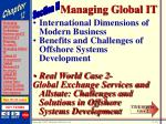 managing global it