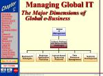managing global it20