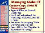 managing global it21