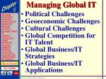 managing global it22