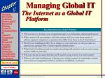 managing global it29