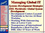 managing global it35