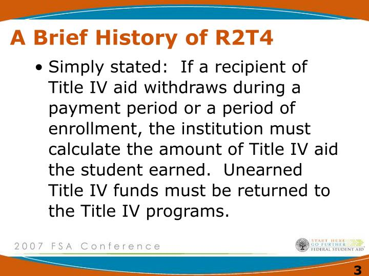 A brief history of r2t4