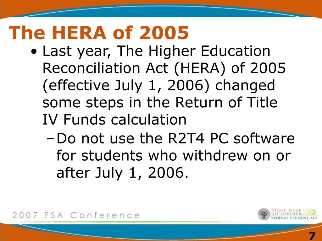 The HERA of 2005