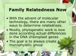 family relatedness now
