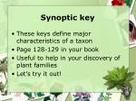 synoptic key