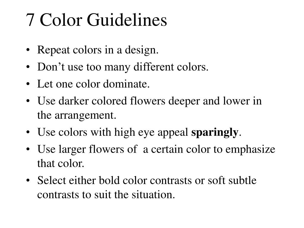 7 Color Guidelines