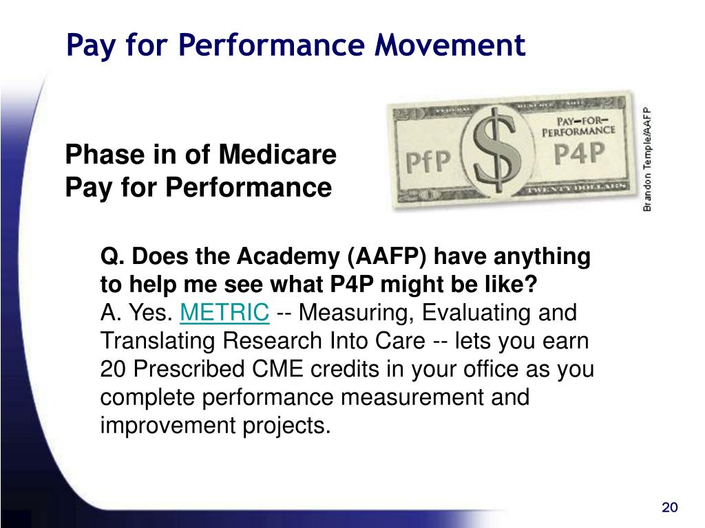 Pay for Performance Movement