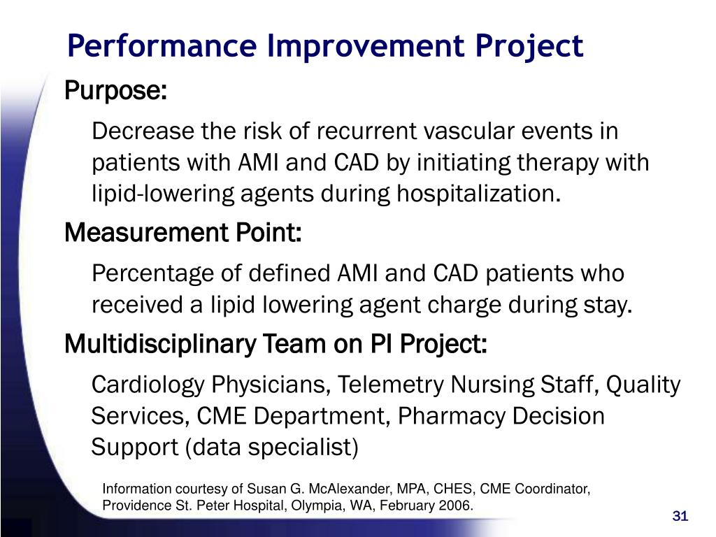 Performance Improvement Project