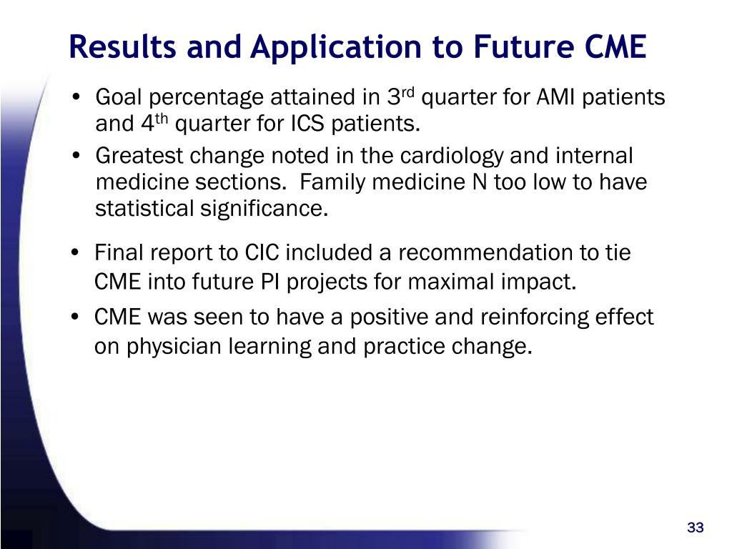 Results and Application to Future CME