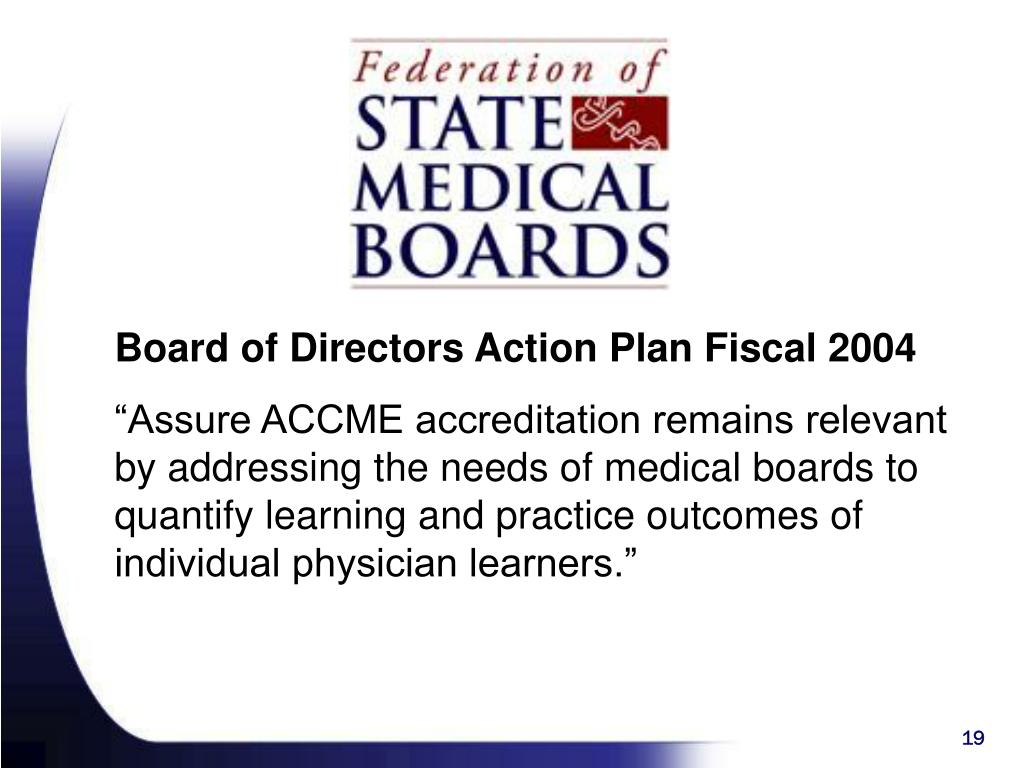 Board of Directors Action Plan Fiscal 2004