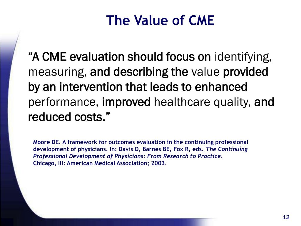 The Value of CME
