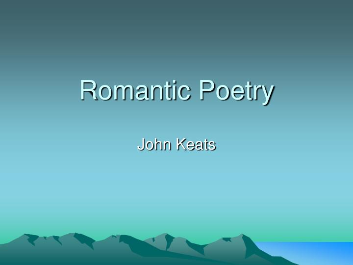 romantic poetry n.