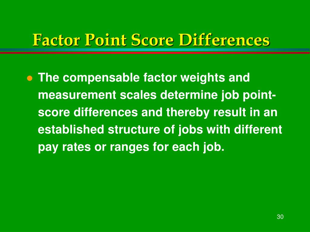 Factor Point Score Differences