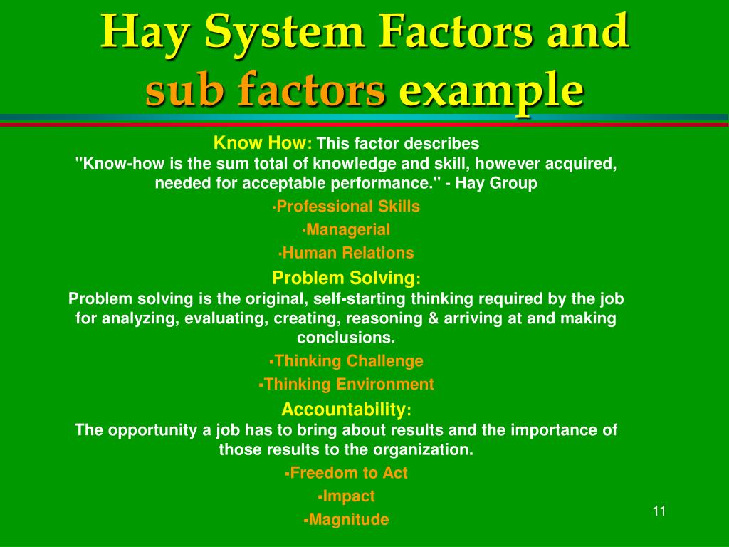 Hay System Factors and