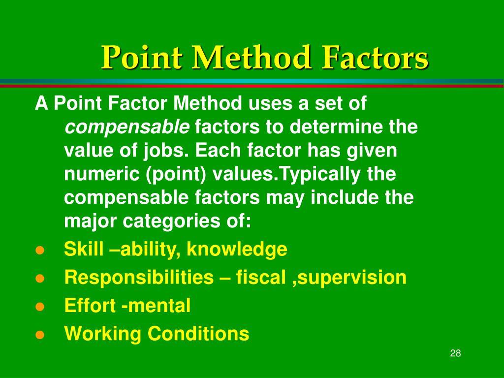 Point Method Factors