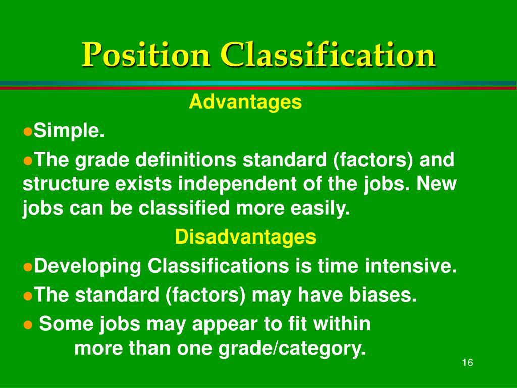 Position Classification