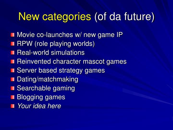 New categories