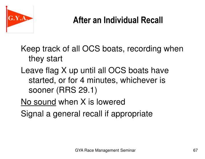 After an Individual Recall
