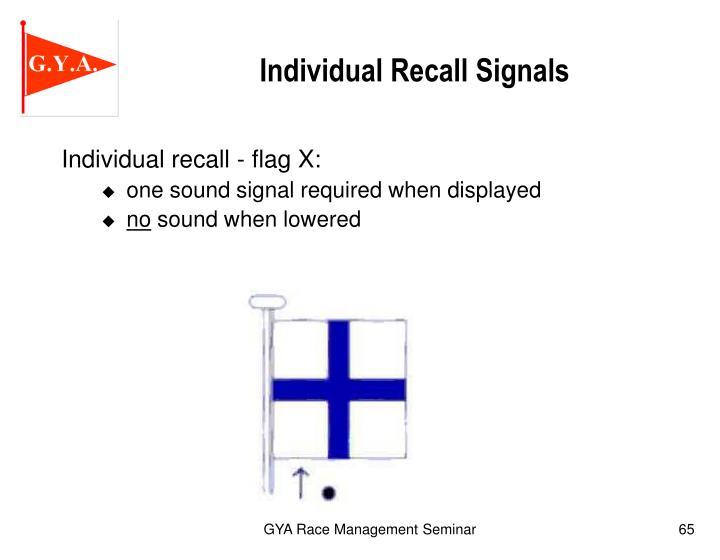 Individual Recall Signals