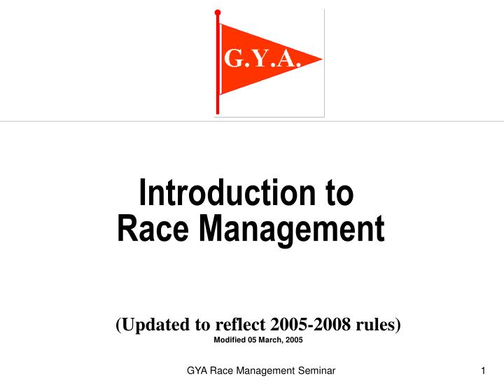 introduction to race management n.
