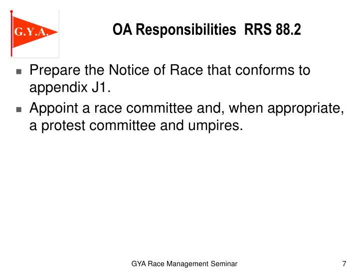 OA Responsibilities  RRS 88.2