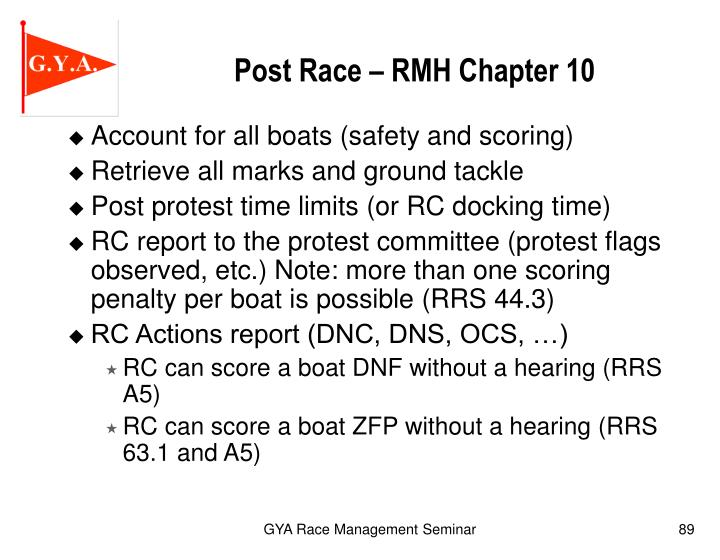 Post Race – RMH Chapter 10
