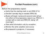 pre start procedures cont2
