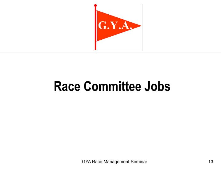 Race Committee Jobs