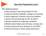 race day preparations cont1