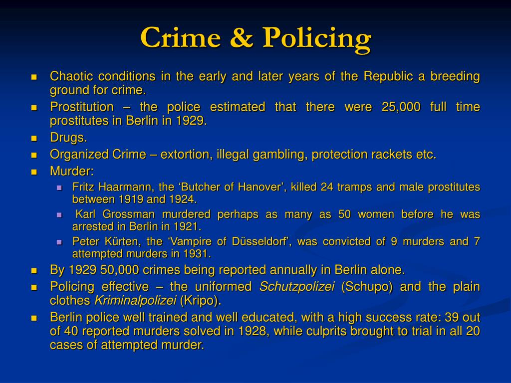 Crime & Policing