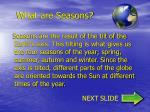 what are seasons