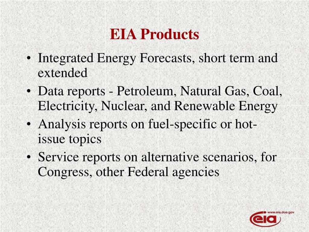 EIA Products