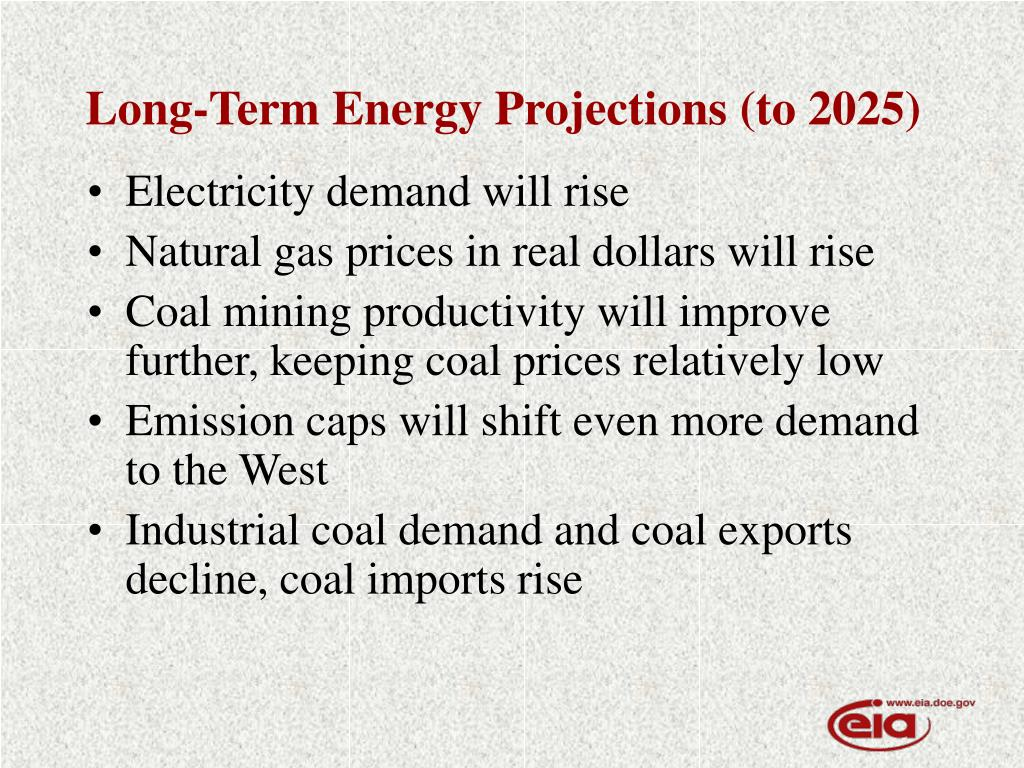 Long-Term Energy Projections (to 2025)