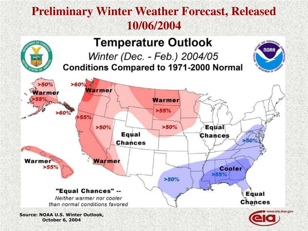 Preliminary Winter Weather Forecast, Released 10/06/2004