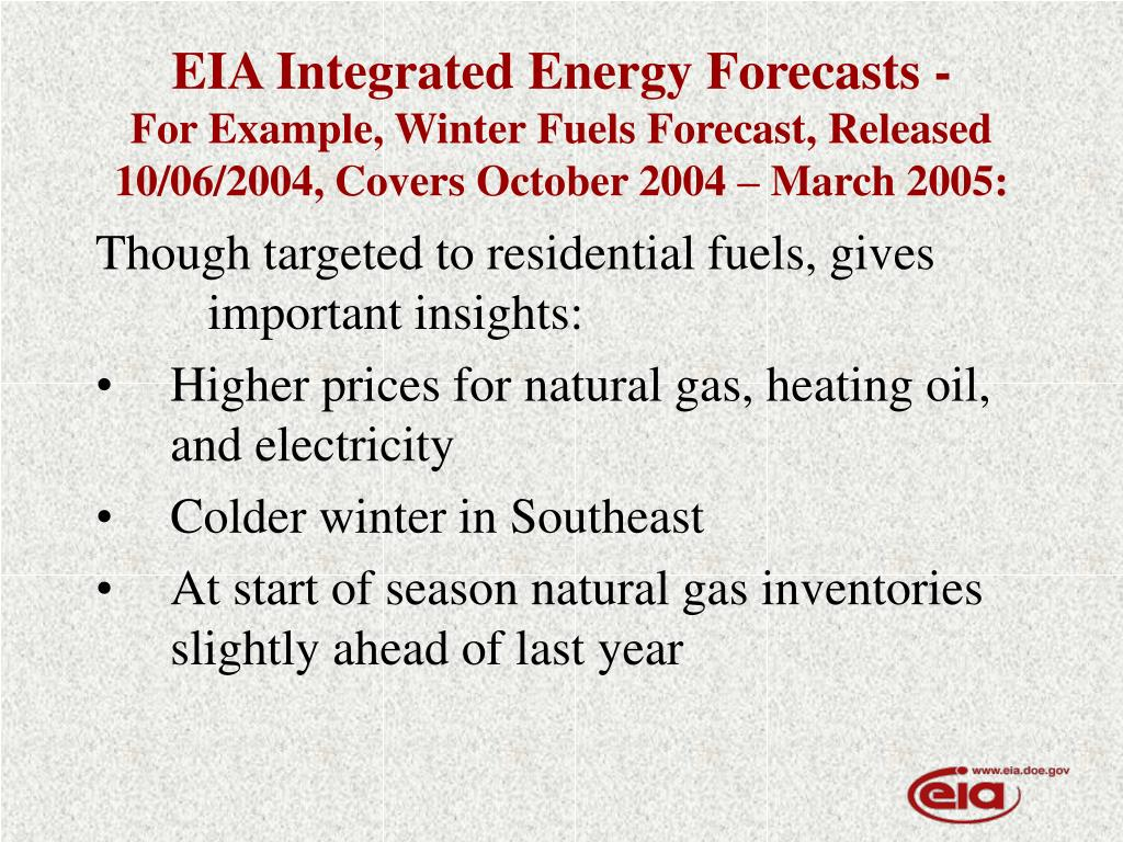 EIA Integrated Energy Forecasts -