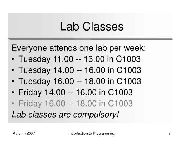 Lab Classes