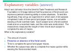 explanatory variables answer